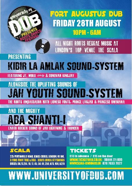 University of Dub – Kibir La Amlak, Jah Youth, Aba Shanti-I // 28.08.2015 // London