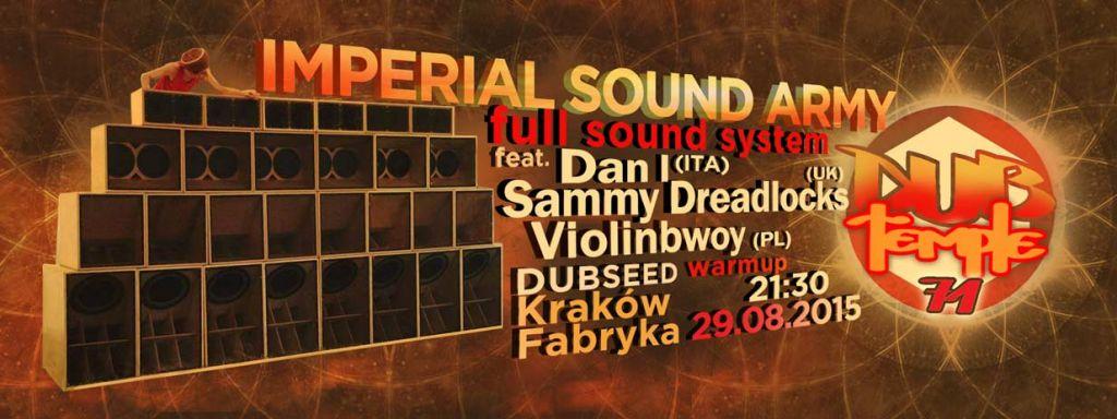 Dub Temple #71 – Imperial Sound Army // 29.08.2015 // Kraków