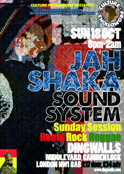 Jah Shaka Sound System Sunday Session // 18.10.2015 // London