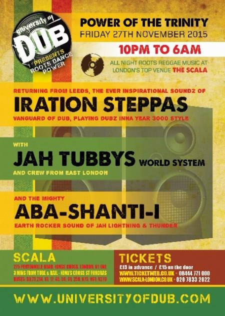 University of Dub – Iration Steppas, Jah Tubbys, Aba-Shanti-I // 27.11.2015 // London