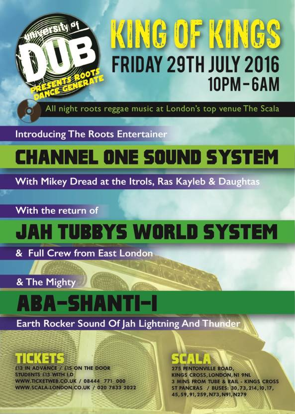 [Event] University of Dub – King of Kings // 29.07.2016 // London
