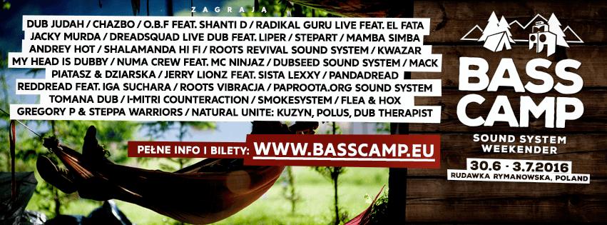 [Event] Bass Camp – Sound System Weekender // 30.06 – 03.07.2016 // Rudawka Rymanowska