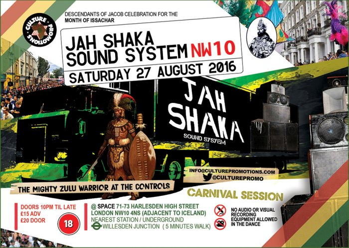 [Event] Jah Shaka Sound In Session // 27.08.2016 // London