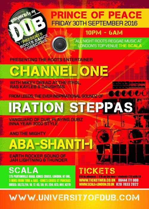 [Event] University of Dub presents Prince of Peace // 30.09.2016 // London