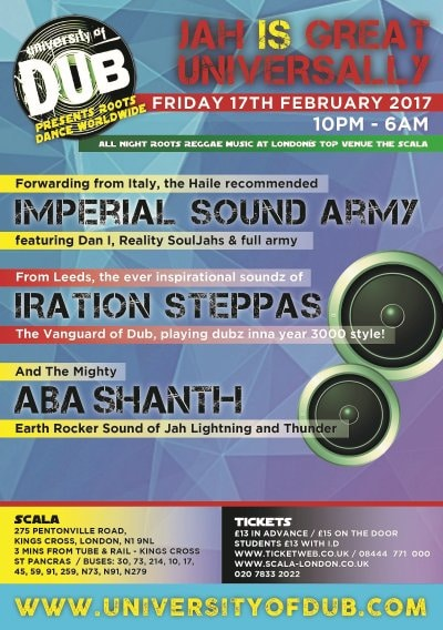 [Event] University of Dub presents Roots Dance Worldwide // 17.02.2016 // London