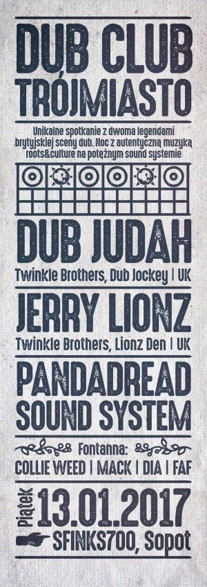 [Impreza] Dub Club Trójmiasto – Dub Judah, Jerry Lionz & more / 13.01.2017 / Sopot