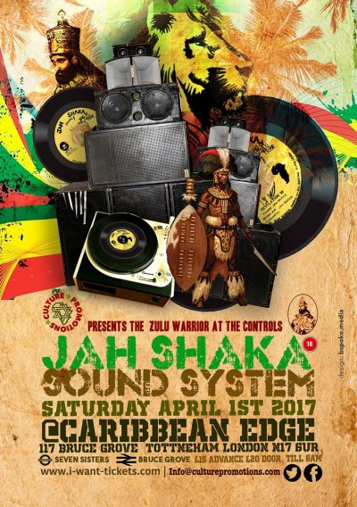 [Event] Jah Shaka Sound System // 01.04.2017 // London