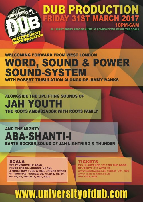 [Event] University of Dub presents Roots Dance Innovation / 31.03.2017 / London