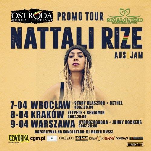 [Impreza] Ostróda Reggae Festival & Regałowisko Bielawa Promo Tour: Nattali Rize