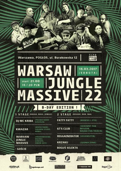 [Impreza] Warsaw Jungle Massive #22 B-day Edition / 18.03.2017 / Warszawa