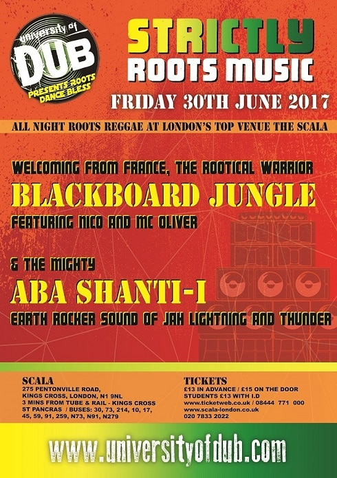 [Event] University of Dub presents Roots Dance Bless / 30.06.2017 / London