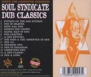 Soul Syndicate - Dub Classics - tył